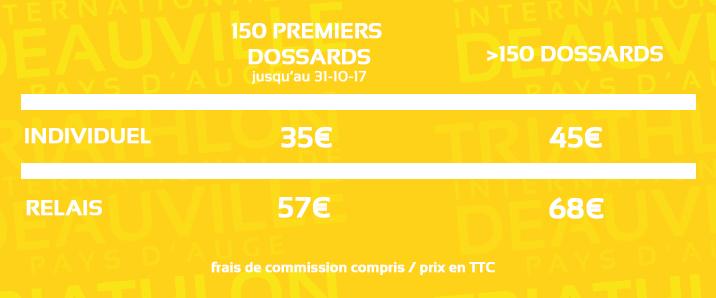 Découverte 0,3K/23K/5K triathlon deauville tarifs