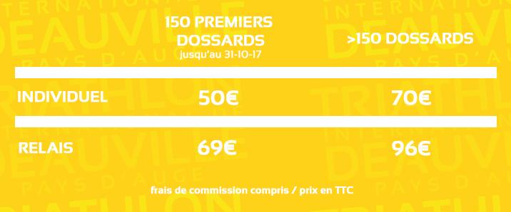Distance Olympique 750 triathlon deauville tarifs