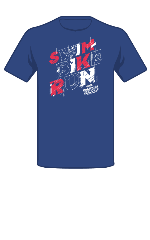 swim bike run tee-shirt