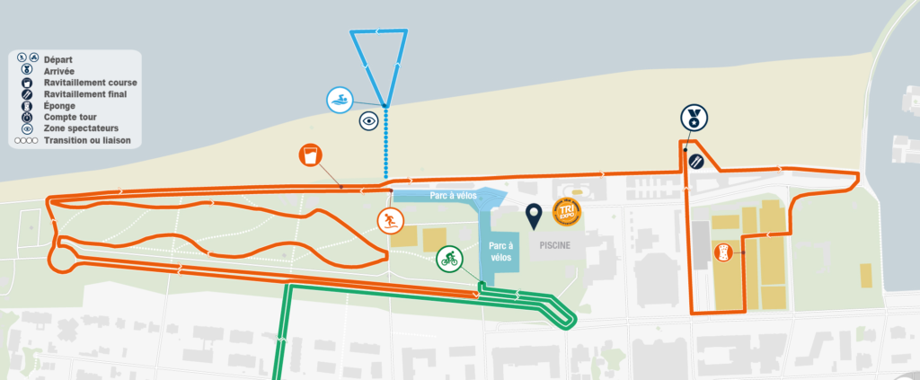 Parcours running triathlon deauville