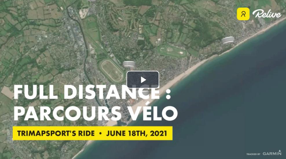 parcours cycliste full distance triathlon international de Deauville
